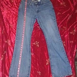 Size 1 gap low rise flare blue jeans